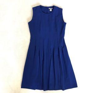 H&M blue Pleated Midi Dress Size 12